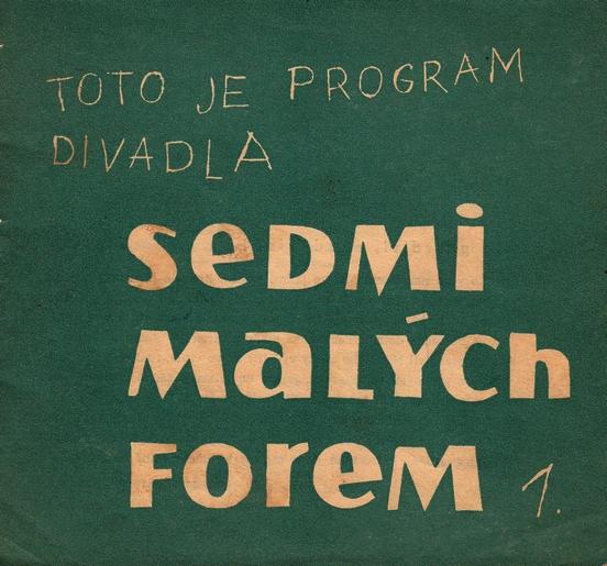 Obálka programu Sedmi malých forem