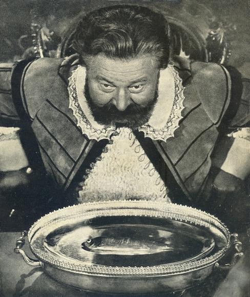 Jan Werich nad talířem