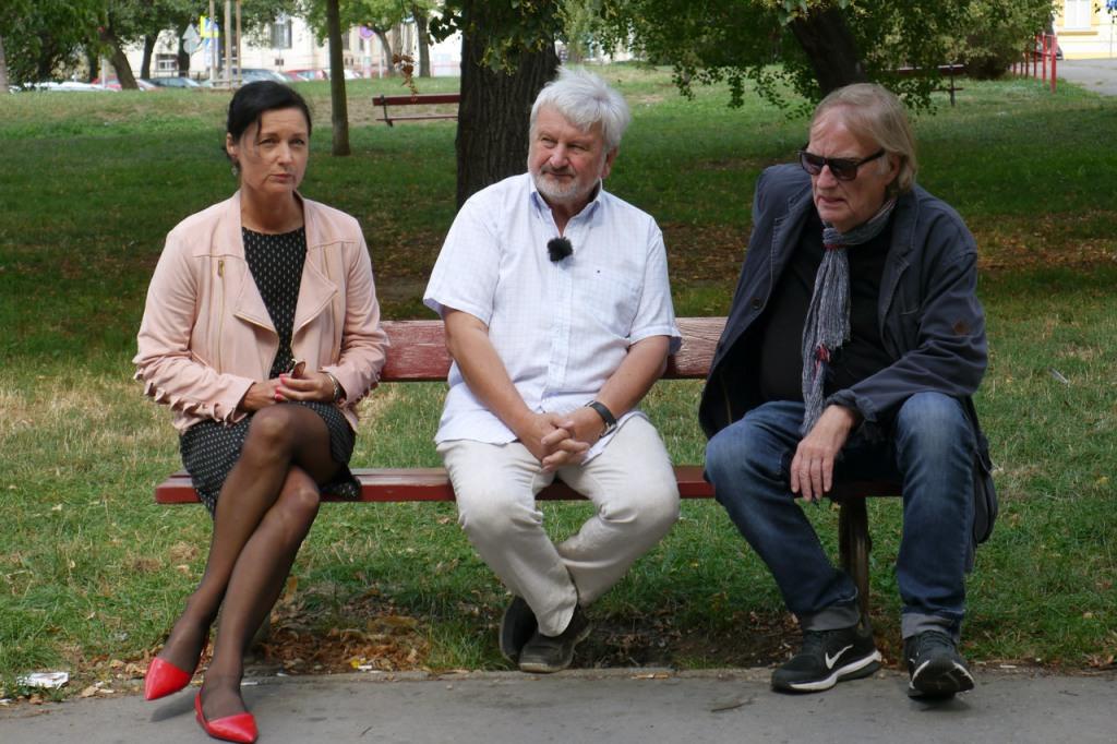 MuDr. Jan Cimický,Simona Chytrová a Vít Olmer(Foto: archiv ČT)