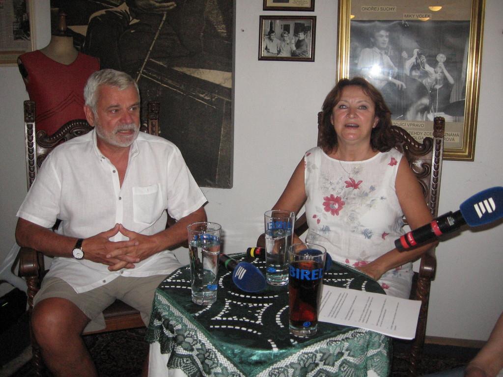 Petr Štěpánek a Zlata Adamovská  (foto : M.Novák)