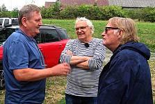 Dramaturg Karel Spurný vlevo, režisér Vít Olmer vpravo